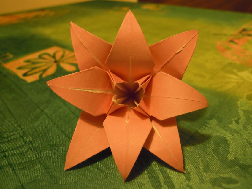 Lilie origami - Origami lilie faltanleitung ...